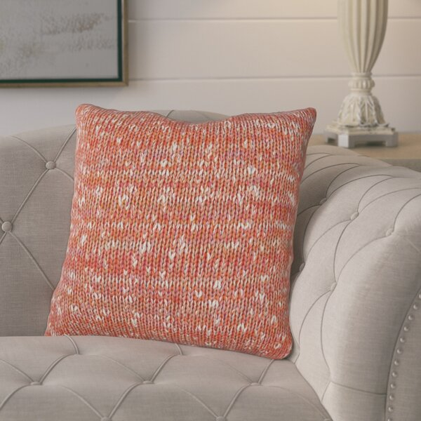 Joyce Knit 100% Cotton Throw Pillow by August Grove
